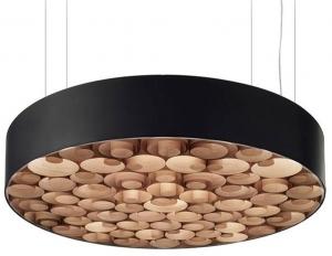 Люстра Spiro Suspension Lamp 15X96X96 CM черно-коричневая