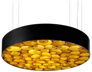 Люстра Spiro Suspension Lamp 15X96X96 CM черно-желтая