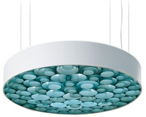 Люстра Spiro Suspension Lamp 15X96X96 CM бело-лазурная