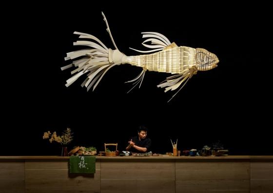 Подвесной светильник в форме рыбы KOI LS 352X175 CM 5