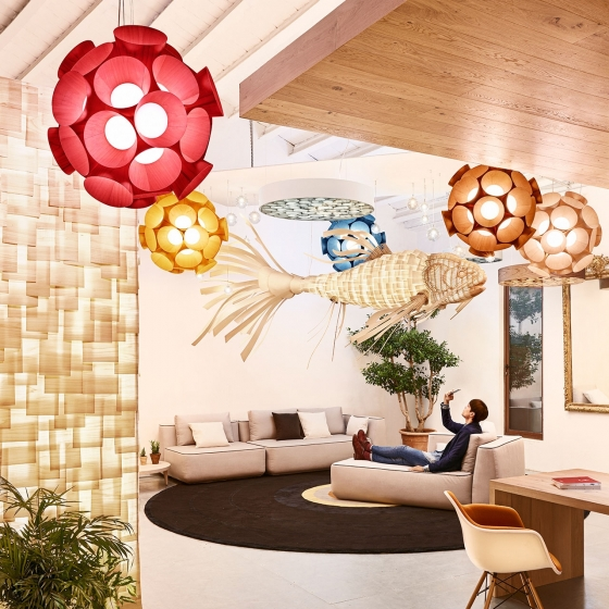 Подвесной светильник в форме рыбы KOI LS 352X175 CM 3