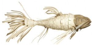 Подвесной светильник в форме рыбы KOGOI 220X130X120 CM белый