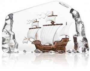 Декор из хрусталя Caravel Ship 24X15 CM