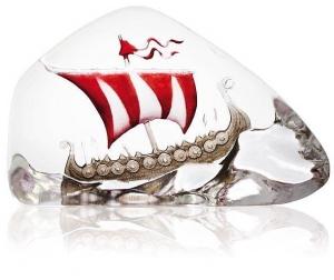 Декоративный элемент из хрусталя Viking Ship 16X10 CM