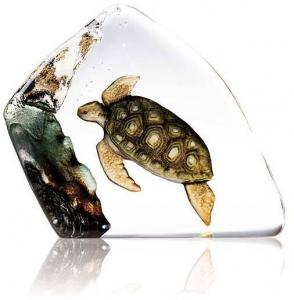 Декоративный элемент из хрусталя Sea Turtle 11X12 CM