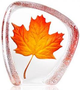 Скульптура из хрусталя Maple Leaf 11X12 CM