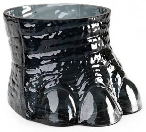 Ваза из чёрного хрусталя Elephantfot 26X26X17 CM