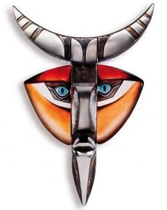 Настенная маска из хрусталя и стали Ymer III 42X62 CM