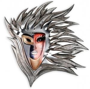 Настенная маска из стали и хрусталя Thalia 70X75 CM