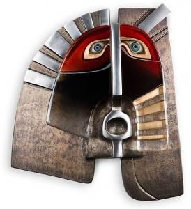 Настенная маска из стали и хрусталя Fiend 57X65 CM