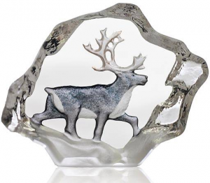 Скульптура из хрусталя Reindeer 7X6 CM