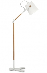 Торшер Nordica 25X60X130 CM белого цвета