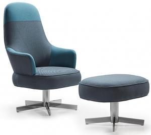 Кресло с пуфом Gabriel 75X78X117 CM