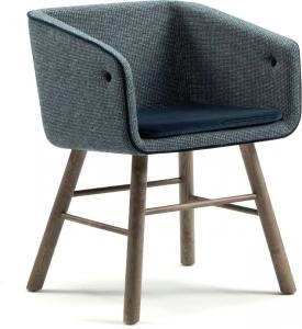 Кресло с каркасом из ясеня Collar Mao 50X72X56 CM