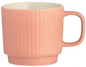 Чашка Embossed 355 ml коралловая