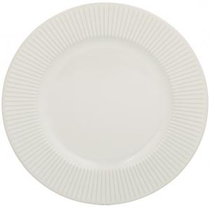 Тарелка Linear Ø21 CM белая