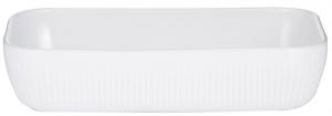 Блюдо для запекания Linear 30X20 CM белое
