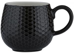 Чашка Embossed 350 ml чёрная
