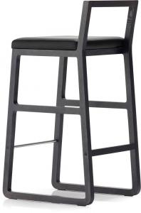 Барный стул с лаконичным дизайном Midori 83X49X42 СM черный