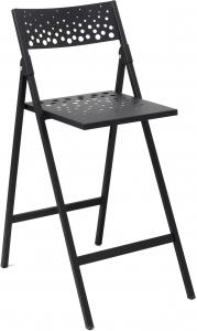 Складной барный стул Moon 44X59X98 CM чёрный