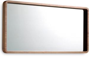 Зеркало с рамой из шпона грецкого ореха 100X50 CM