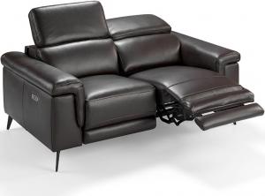 Кожаный расслабляющий диван 175X103X99 CM тёмно коричневый