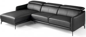 Угловой кожаный диван Chaiselongue 283X194X75/94