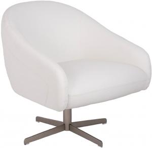Кресло с поворотным основанием A729 73X78X75 CM белое