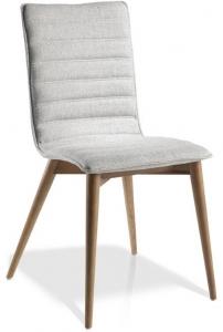Элегантный стул на каркасе из ореха DC619 49X56X90 CM светло серый