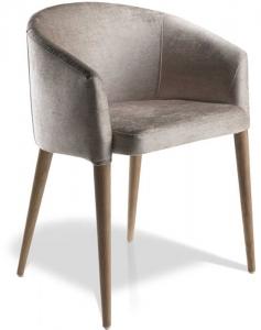 Дизайнерский стул с ножками из ореха Calidez 59X56X78 CM