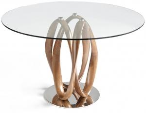 Круглый обеденный стол DT801 110X110X78 CM