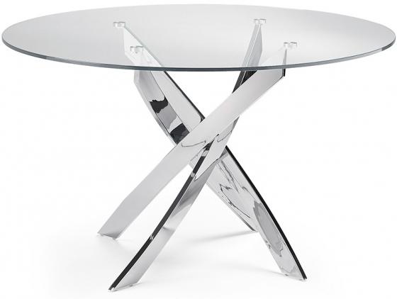 Круглый стол со стальными ножками F2133 120X120X75 CM 1
