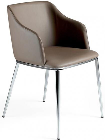 Современный дизайнерский стул Atelier 51X56X79 CM коричневый 1