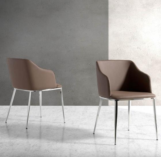 Современный дизайнерский стул Atelier 51X56X79 CM коричневый 2