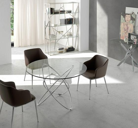 Современный дизайнерский стул Atelier 51X56X79 CM коричневый 3