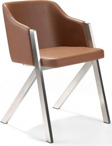 Современный дизайнерский стул F3202 51X58X74 CM коричневый