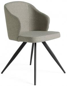 Закругленный стул F3208 48X57X82 CM серый