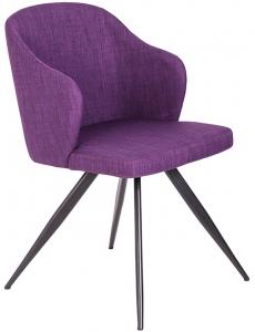 Закругленный стул F3208 48X57X82 CM фиолетовый