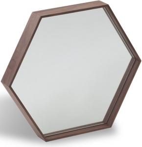 Зеркало с шестигранной рамой из ореха HV-MR45 46X40X6 CM