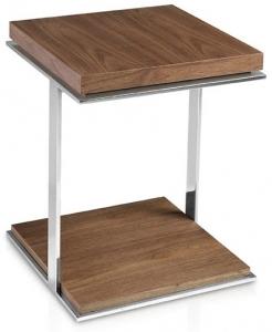 Вспомогательный столик из стали и ореха MH1306 45X45X55 CM
