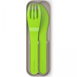 Набор из 3 столовых приборов в футляре mb pocket color зеленый