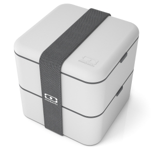 Ланч-бокс mb square светло-серый