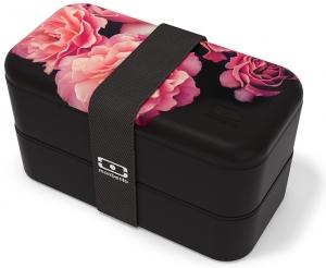 Ланч-бокс mb original 1L flower mood black