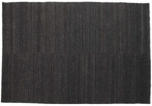 Ковёр из джута шерсти и войлока Earth 300X200 CM чёрный
