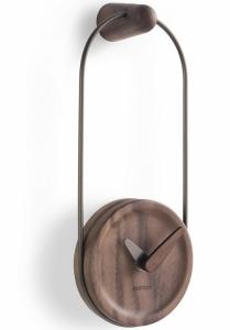 Настенные часы Eslabon 10X27 CM графит-орех