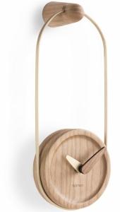 Настенные часы Eslabon 10X27 CM латунь-дуб
