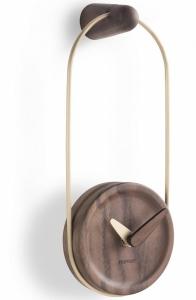 Настенные часы Eslabon 10X27 CM латунь-орех