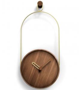 Настенные часы Eslabon 30X68 CM орех-латунь