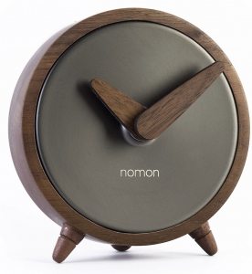 Часы настольные Atomo Ø10 CM цвет графит