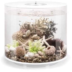 Круглый аквариум с обзором в 360° biOrb Tube 15 LED 33X33X32 CM белый